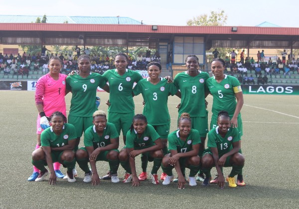 Oparanozie, Oshoala On Target As Super Falcons Spell G-A-M-B-I-A, Pick AWCON Ticket