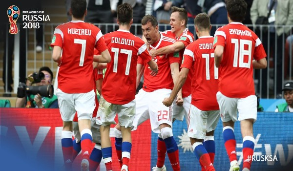 Hosts Russia Trounce Saudi Arabia In World Cup Opener