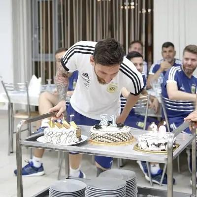 PHOTOS: Argentina Stars Celebrate Messi On 31st Birthday