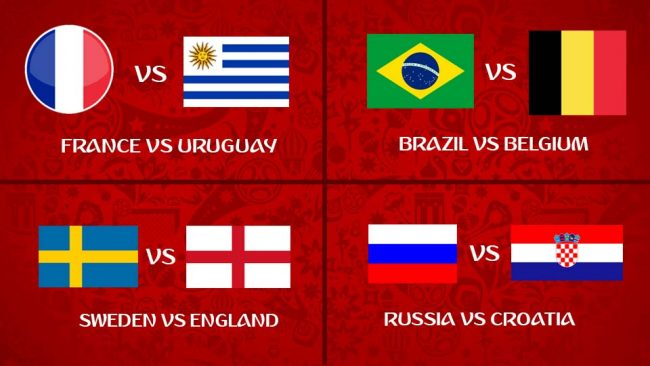 2018 World Cup: Two More Quarter-Final Ties This Saturday