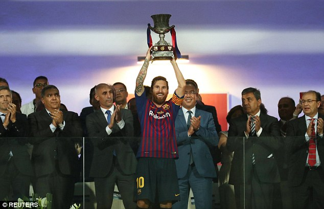 Spanish Super Cup: Dembele Bags Winner Vs Sevilla, Messi Lifts First Trophy As Barca Captain