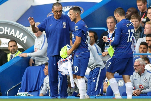 Chelsea Boss Sarri Insists Real Madrid Target Hazard Not Ready For 90 Minutes Vs Newcastle