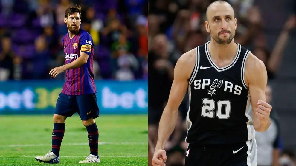Messi Pays Tribute To Argentina Basketball Superstar Ginobilli On Retirement