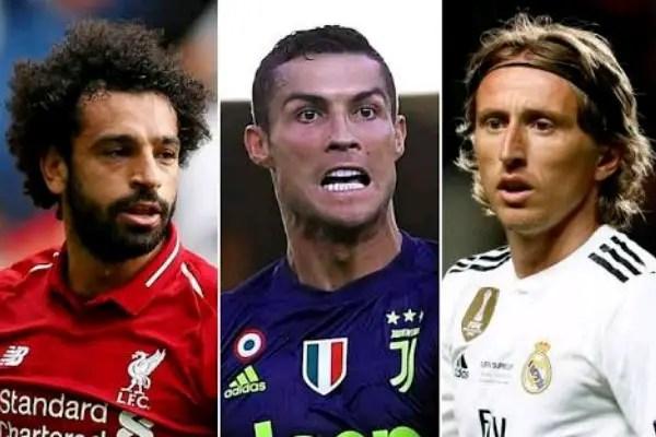 Ronaldo, Salah, Modric To Battle For UEFA Player Of The Year Award