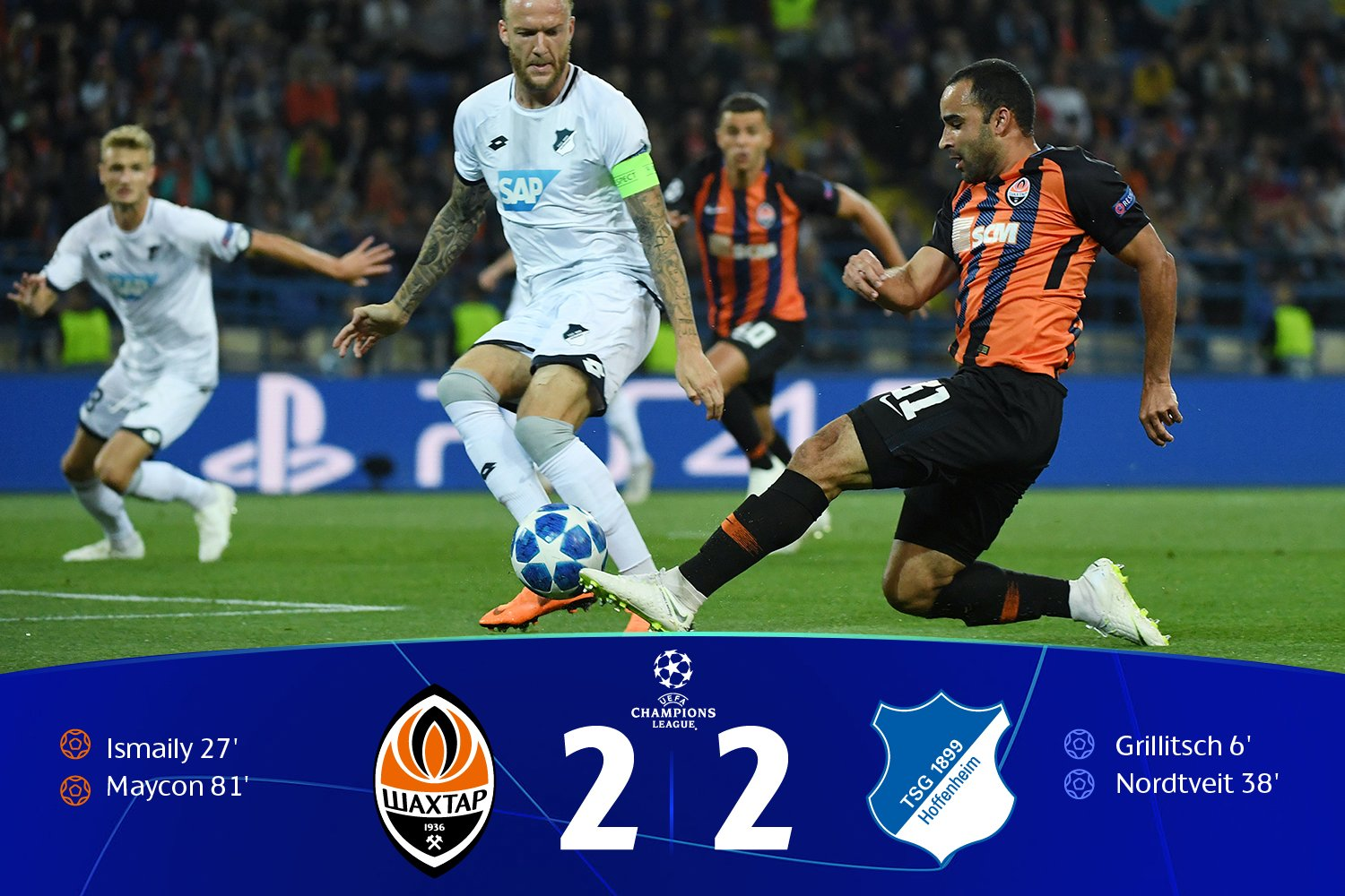 UCL: Kayode Missing In Shakhtar Donetsk Home Draw Vs Hoffenheim