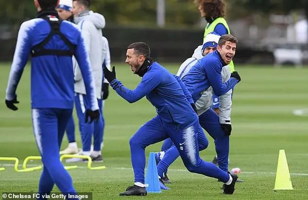 Hazard Resumes Training As Chelsea Prepare Crystal Palace Visit