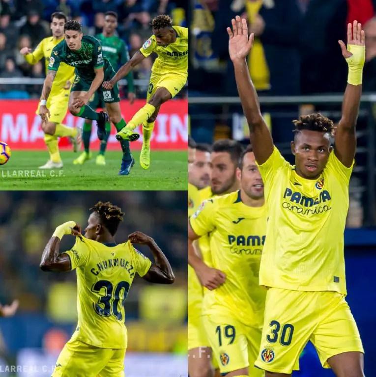 Chukwueze Feels No Pressure Playing For Villarreal, Targets Barca Fall