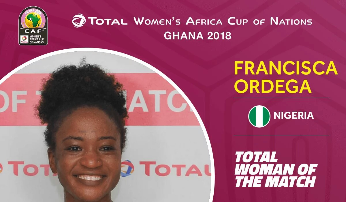 Ordega Named Woman Of The Match In Nigeria Win Vs South Africa