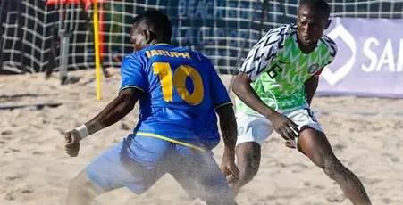 Beach Soccer AFCON: Super Sand Eagles Edge Tanzania, Set For Semis