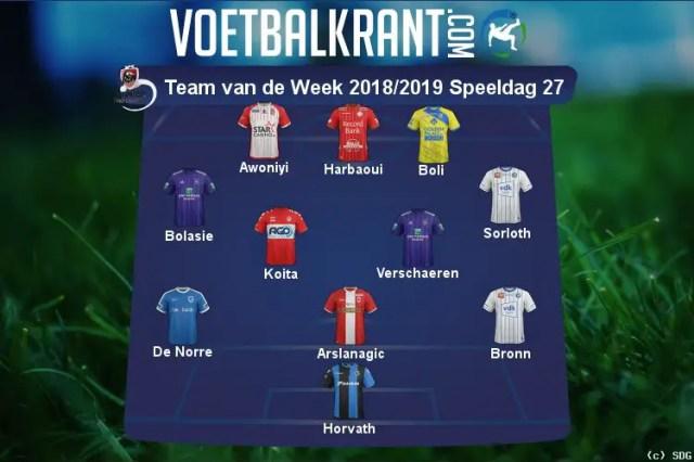 Awoniyi Makes 5th Team of Week in Belgium