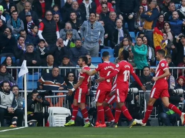 Girona Stun Real Madrid 2-1 At Santiago Bernabeu