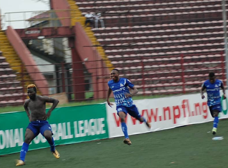 Jimoh Dedicates Match Winner  For Rivers United  Vs Remo Stars To Parents, Home Fans