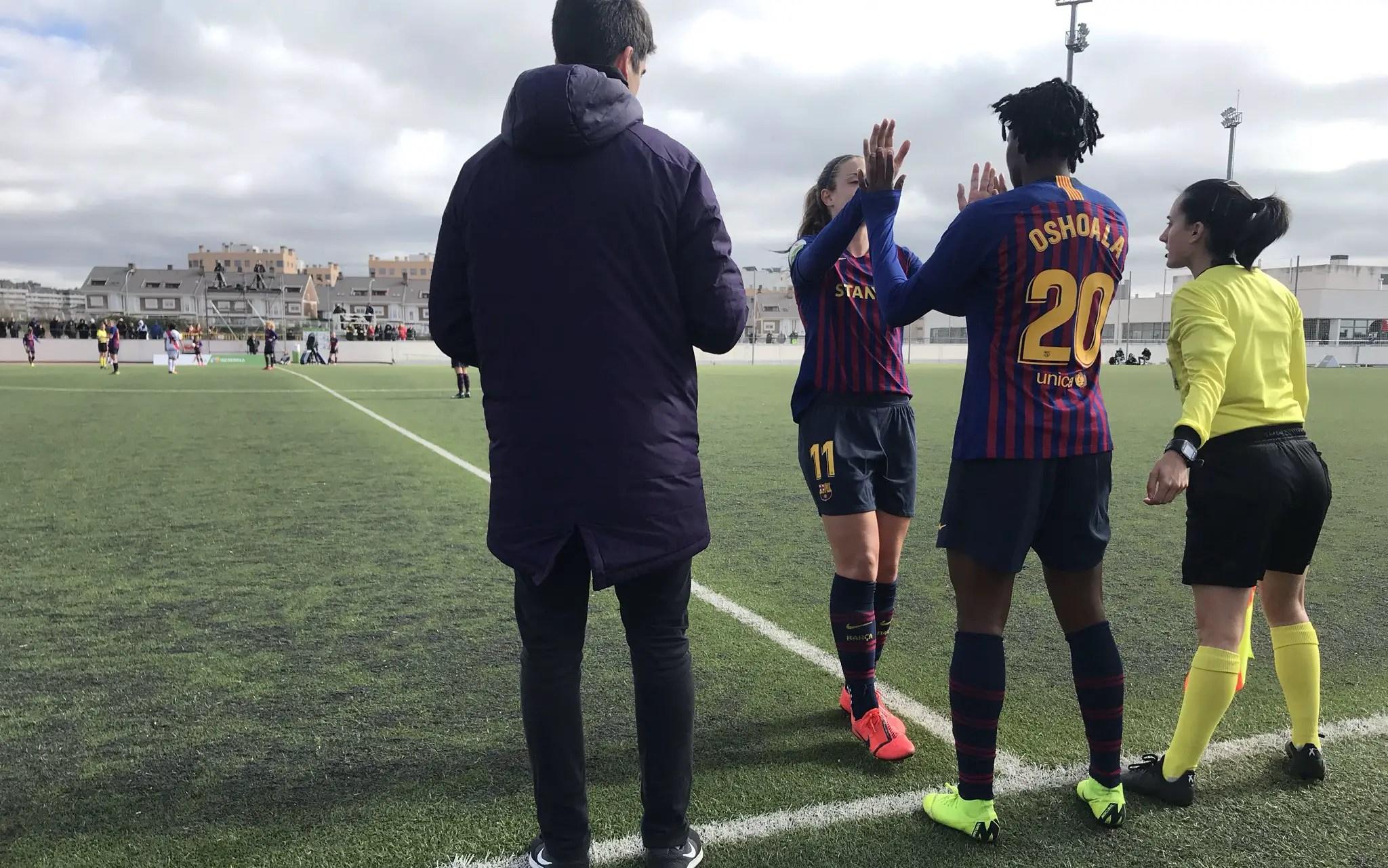 Oshoala Scores On Barcelona Ladies Debut, Nets Fourth Goal In 4-0 Win Vs Rayo Vallecano