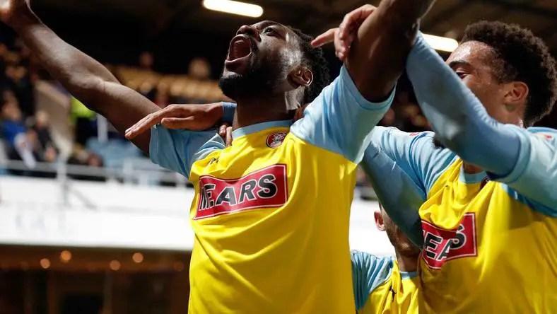 Rotherham Manager Warne Celebrates Ajayi's Match Winner Vs QPR