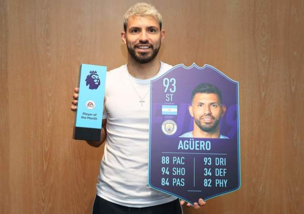 Aguero, Guardiola Named PL Player and Manager of the Month for February