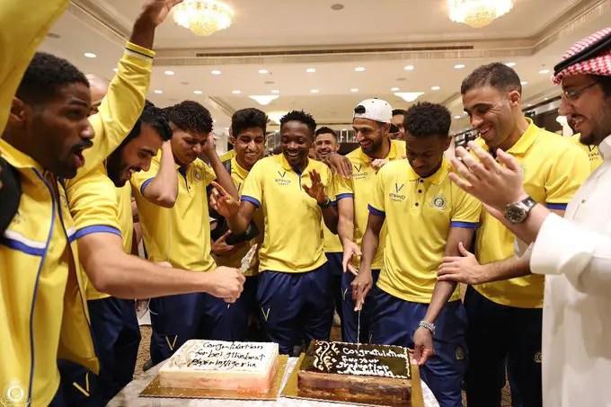 Al Nassr Celebrate Musa's Nigerian Player Of The Year Award