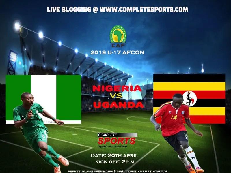 Live Blogging: Nigeria Vs Uganda (U-17 AFCON)