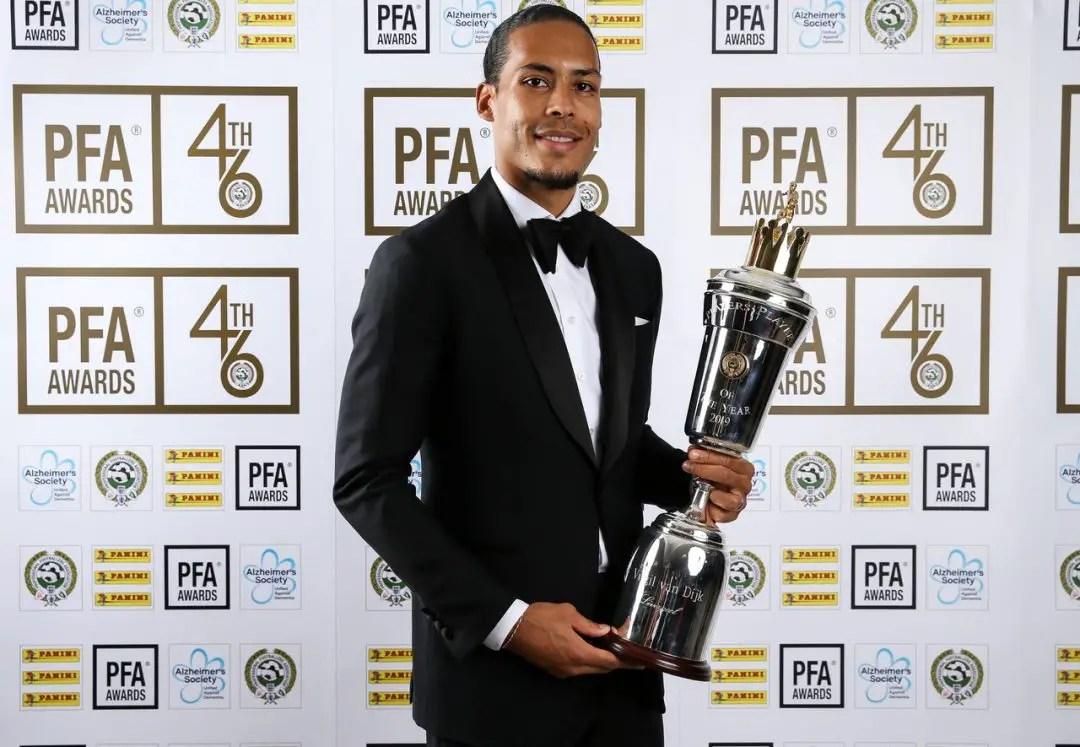 Virgil Van Dijk Chosen As PFA Players' Player of the Year