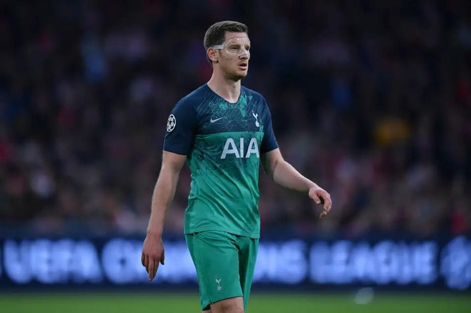 Spurs' Vertonghen Doubtful For UCL Final Vs Liverpool