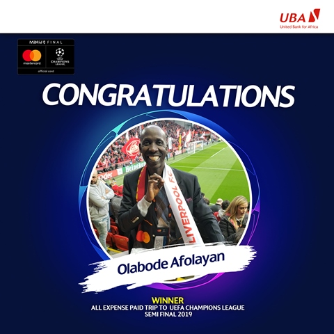 Customers Win Big: UBA Partners With MasterCard To Reward Loyal Customers With All-Expense Paid Trip To 2019 UEFA Champions League