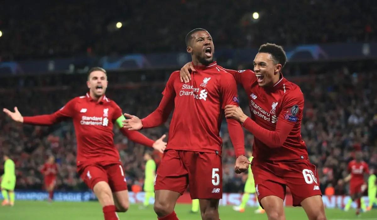 Wijnaldum -Reds season deserves a trophy