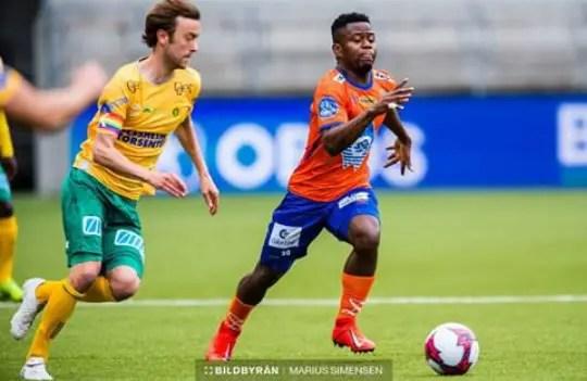 Uzochukwu Thrilled With Aalesunds' 10 Game Unbeaten Streak in Norway