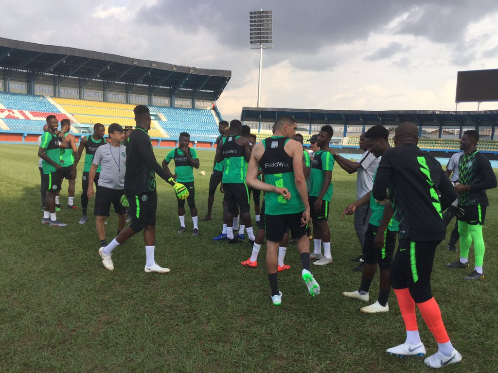 Eagles Hold One Training Session Today, Rohr To Release Final AFCON 2019 List After Zimbabwe Friendly