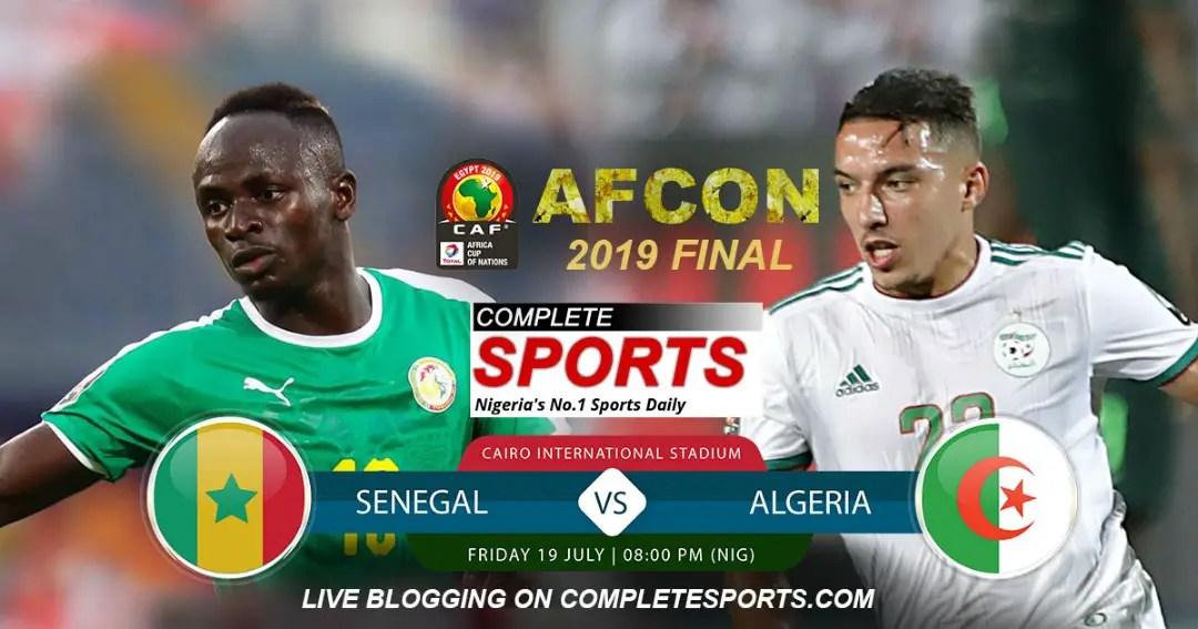 Live Blogging: Senegal Vs Algeria (AFCON 2019 Final)