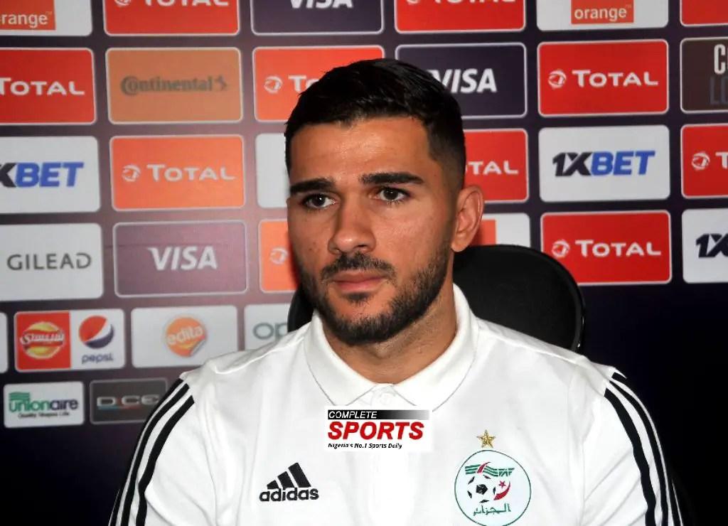 Algeria midfielder Abeid Expects Tough Match Against Eagles