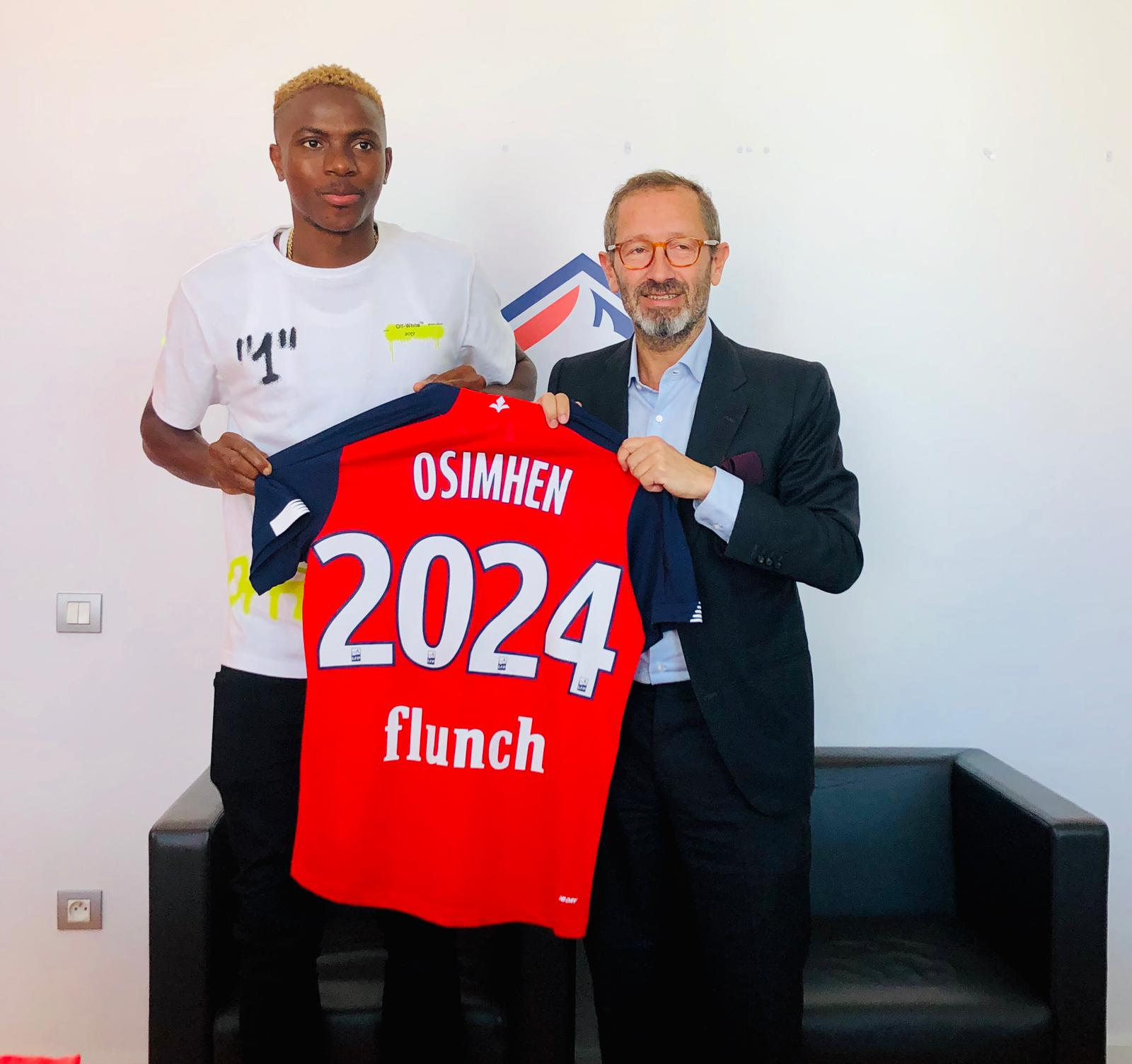 Osimhen Joins Lille On Five-Year Contract From Sporting Charleroi