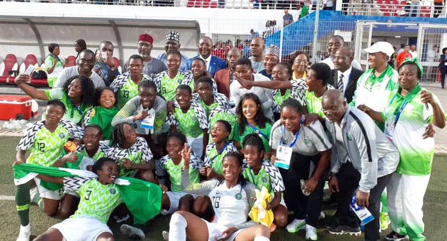 12th AAG: Super Falconets Beat Cameroon  3-2 On Penalties To Clinch Gold Medal