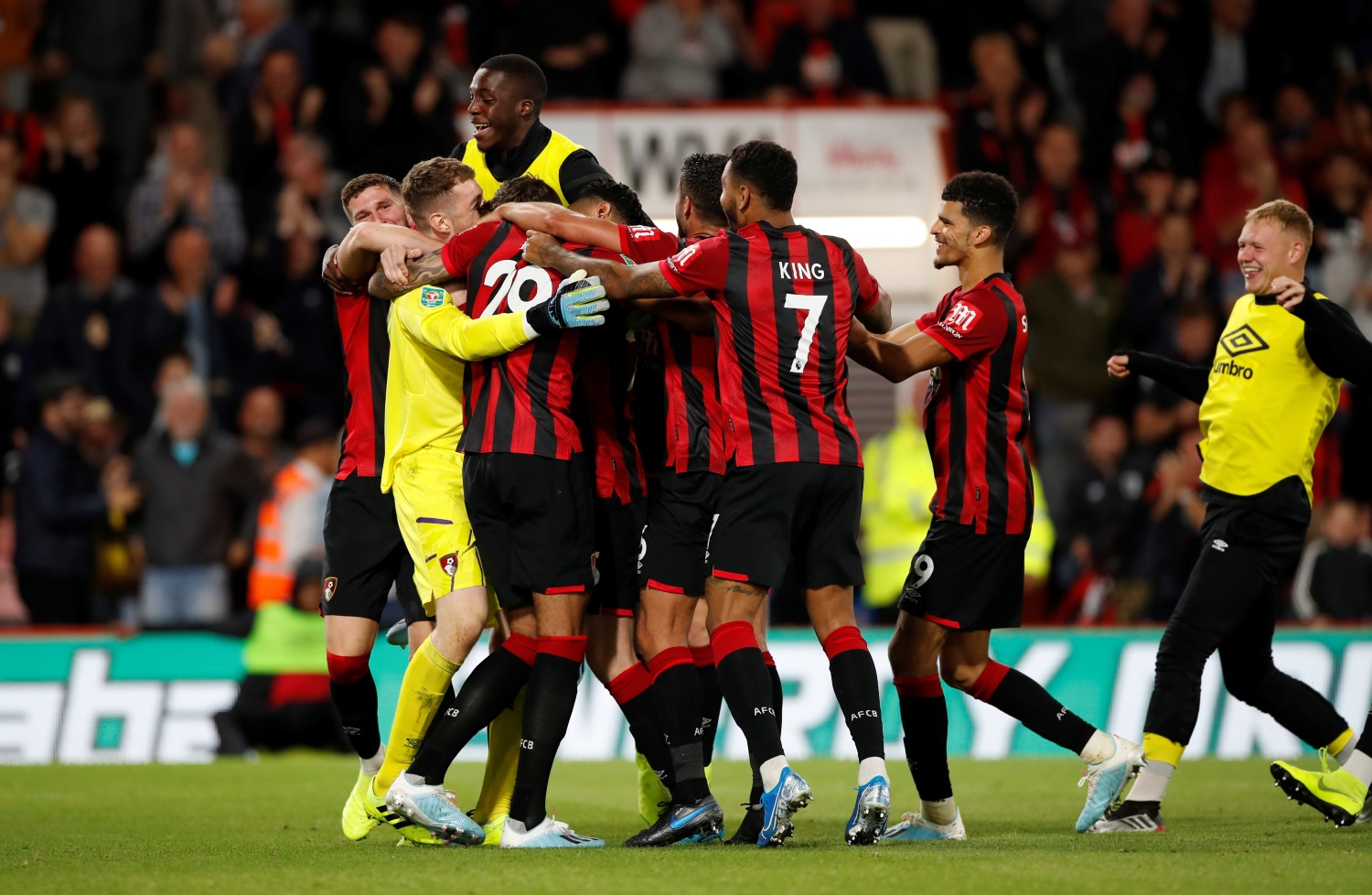 Bournemouth 0-0 Forest Green Rovers (Bournemouth win 3-0 on penalties)
