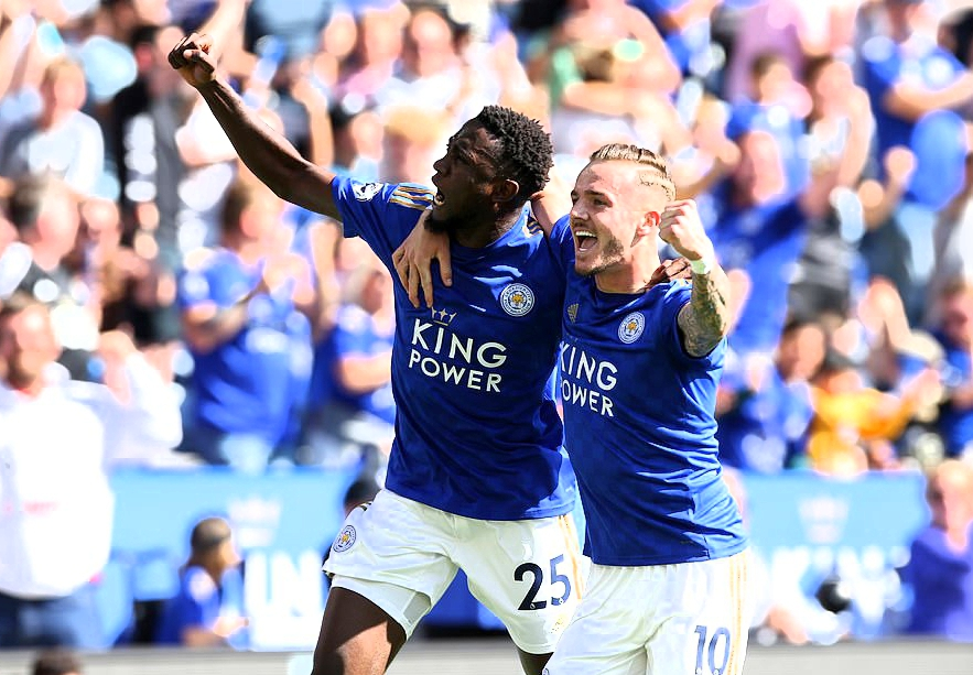 EPL: Ndidi's Goal Disallowed, Iheanacho Absent As Leicester Pip Visitors Spurs