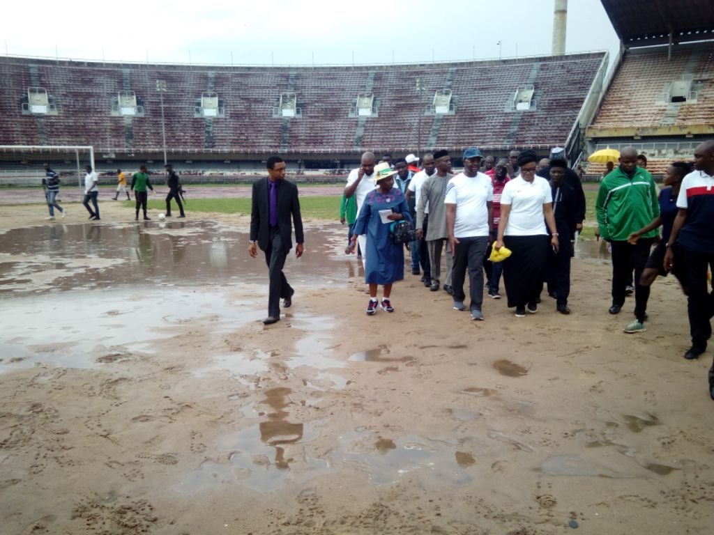 Minister Receives Report Of  Ministerial Taskforce On National Stadium Lagos