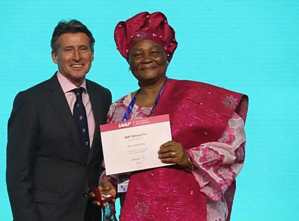 IAAF Honours Maria Worphil With Veteran Pin Award