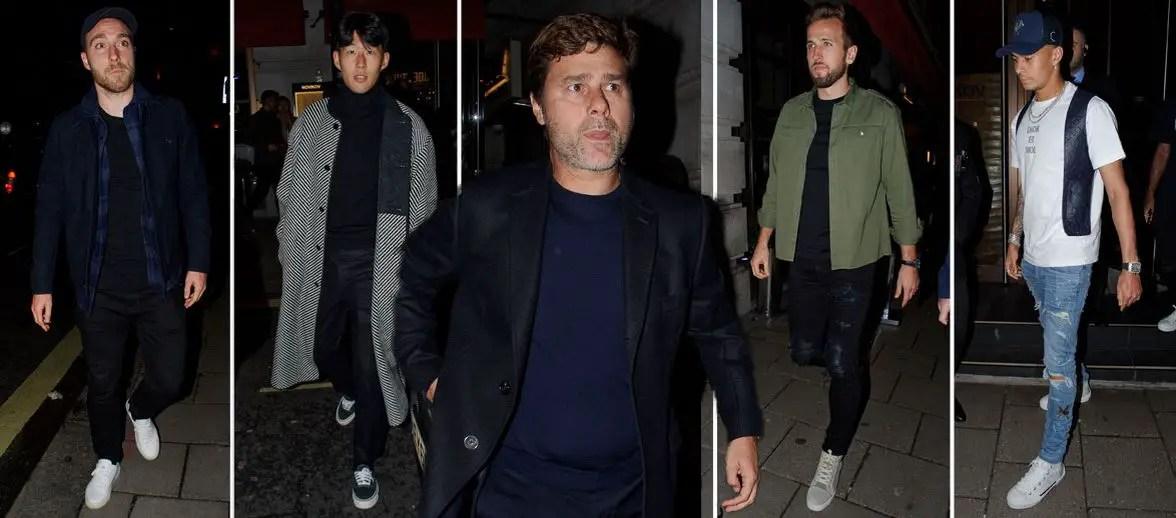 Tottenham Stars Show Under Pressure Pochettino Support With Lavish Dinner