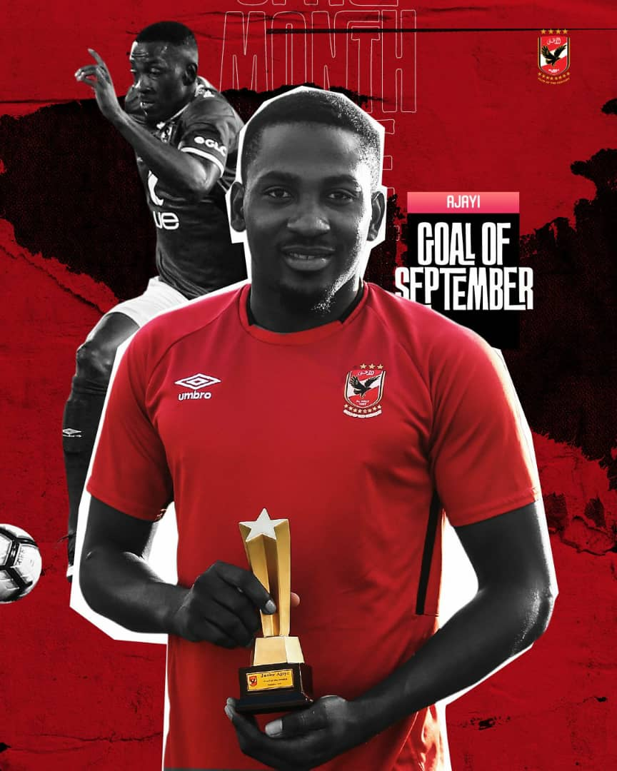 Ajayi Wins Al Ahly September Goal Of The Month Award