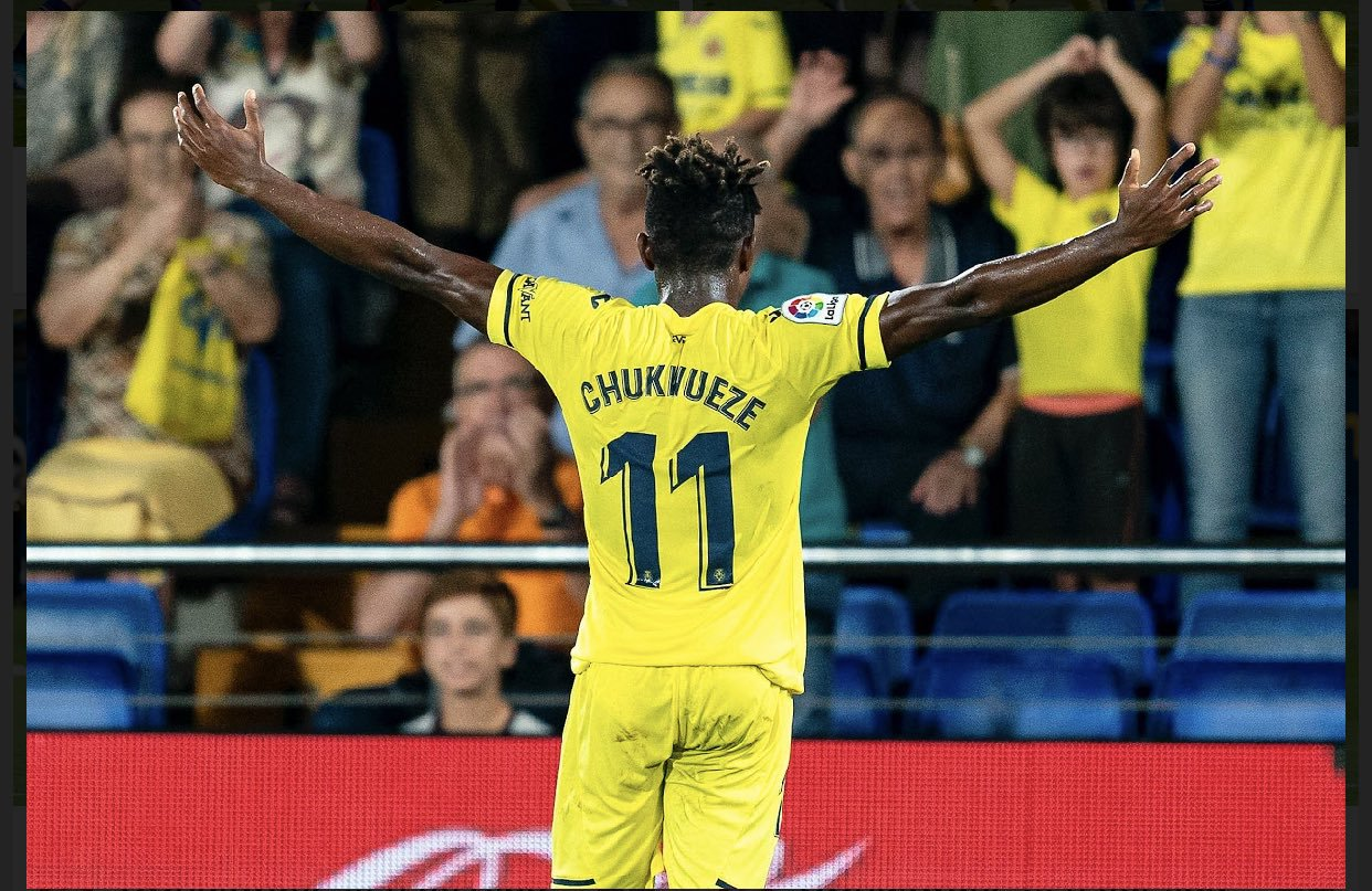 Villarreal  Celebrate Chukwueze's Kopa Trophy Award Nomination