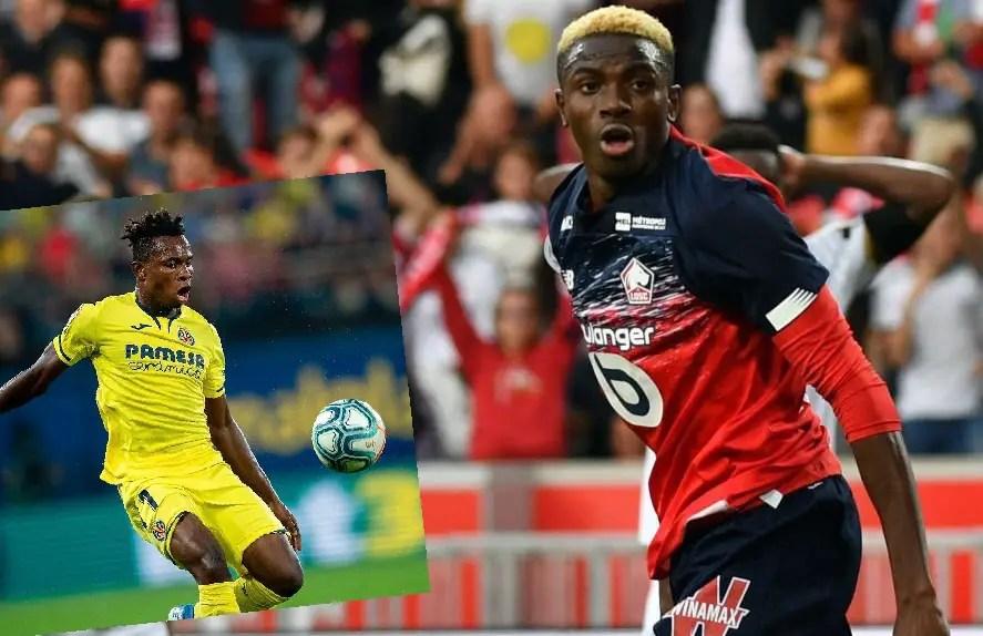 UCL: Chukwueze Talks Up 'Complete Forward' Osimhen Ahead Lille vs Valencia