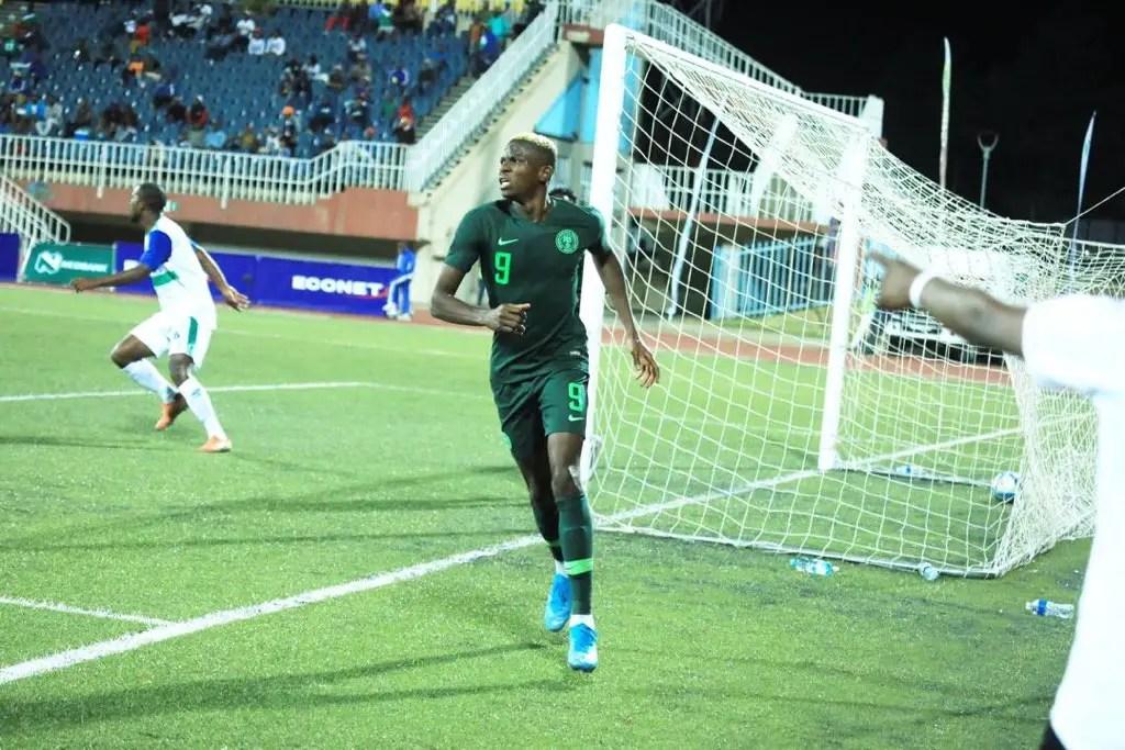 Rampant Osimhen Nets Brace; 2 Assists As Eagles Thrash Lesotho 4-2 in Maseru