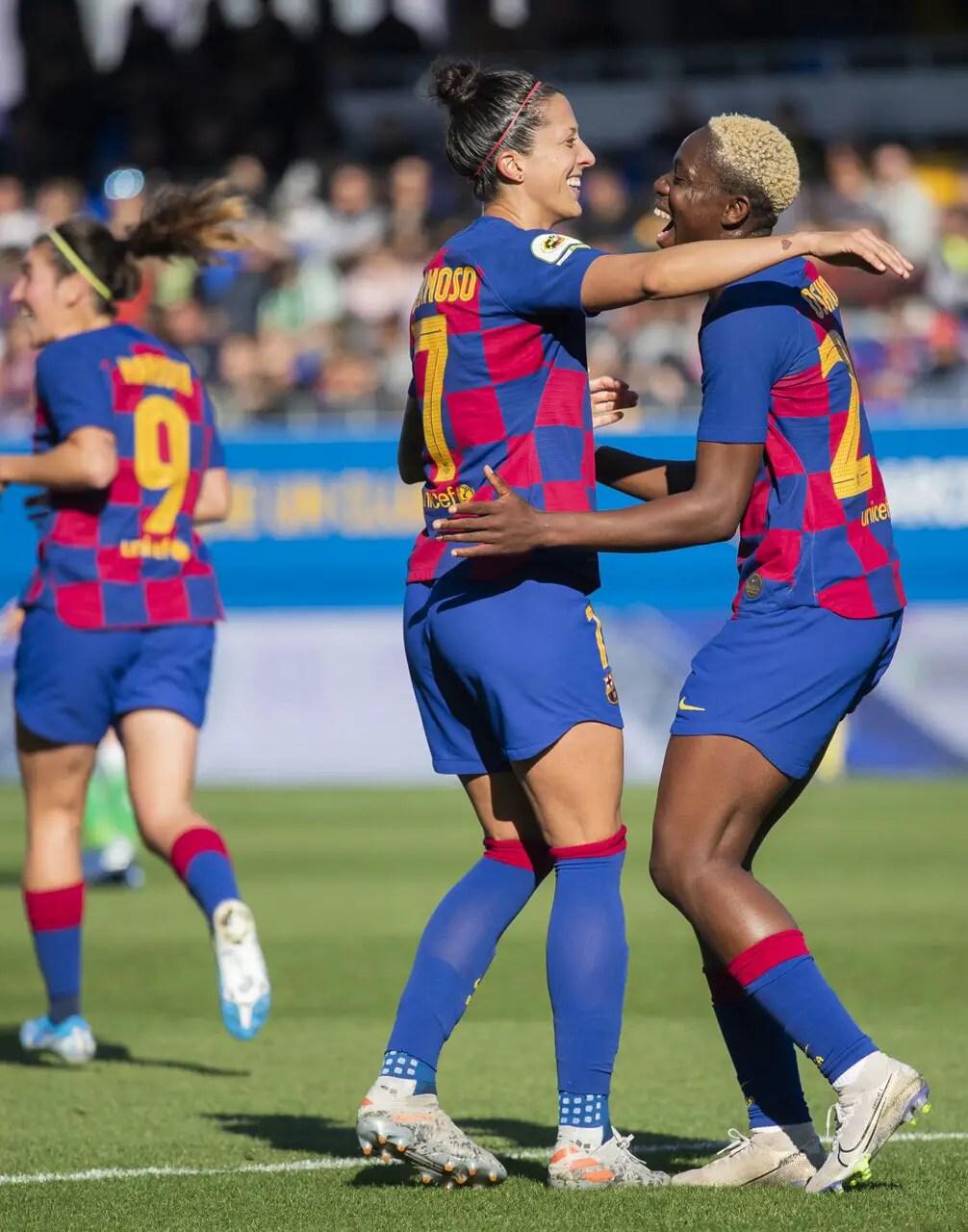 Oshoala Scores, Kanu Debuts As Barcelona Ladies Beat Sevilla To Remain Unbeaten