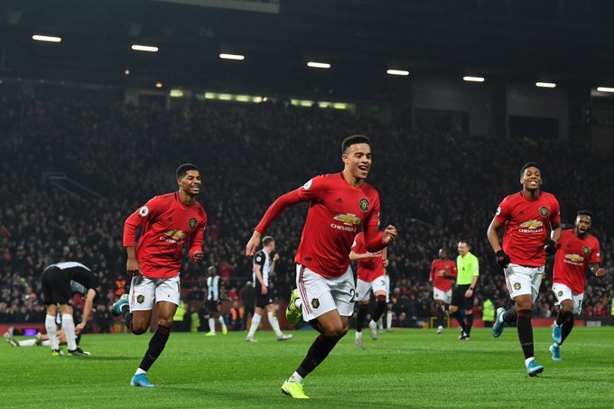 EPL: Man United Come From  Behind To  Beat Newcastle At Old Trafford