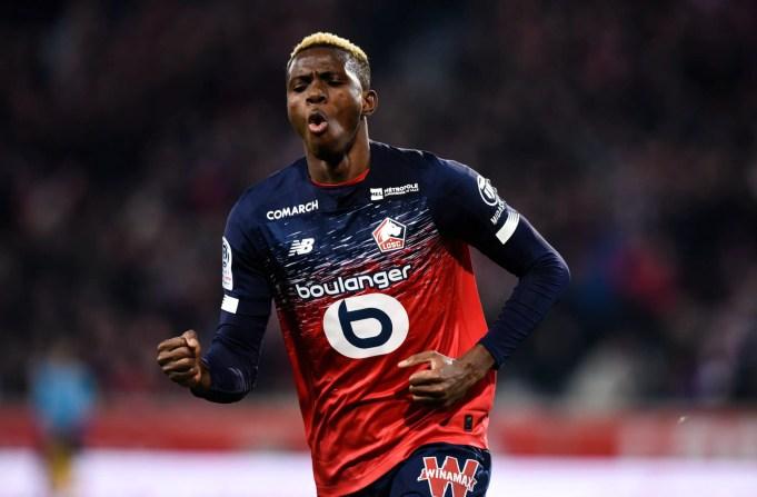 Osimhen Eye ten league goal for lille against Montpellier