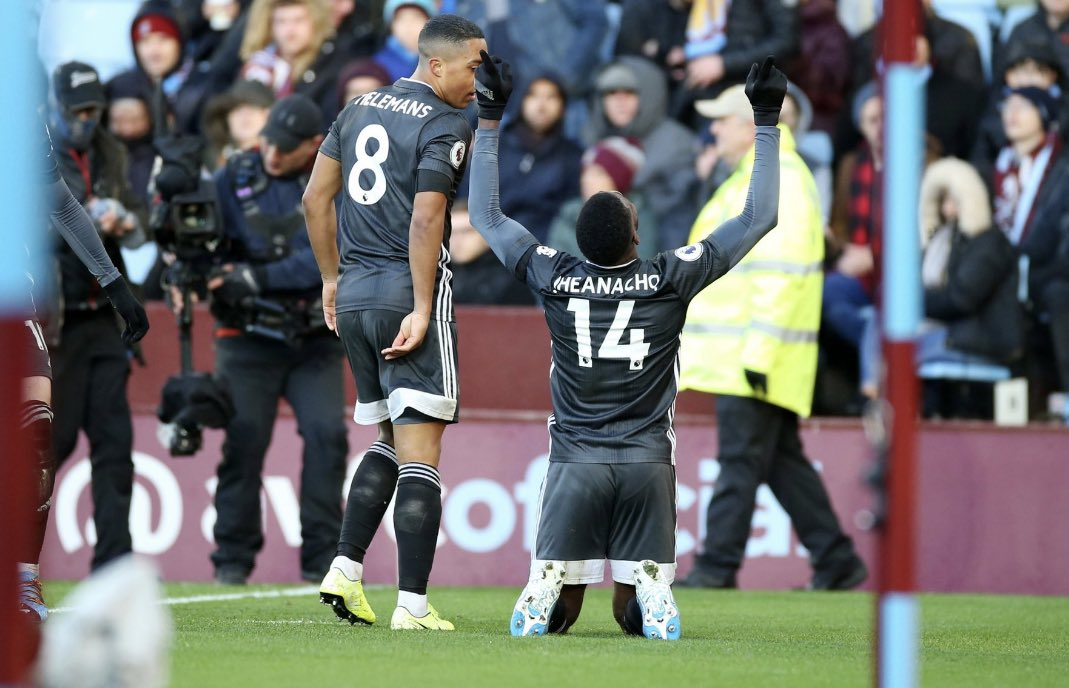 """Iheanacho Thrilled With Leicester City's """"Fantastic"""" Away Win Against Aston Villa"""
