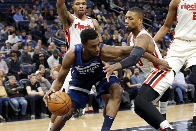 Andrew Wiggins Drops 23 Points, T-wolves Beat Blazers 116-102 At Home