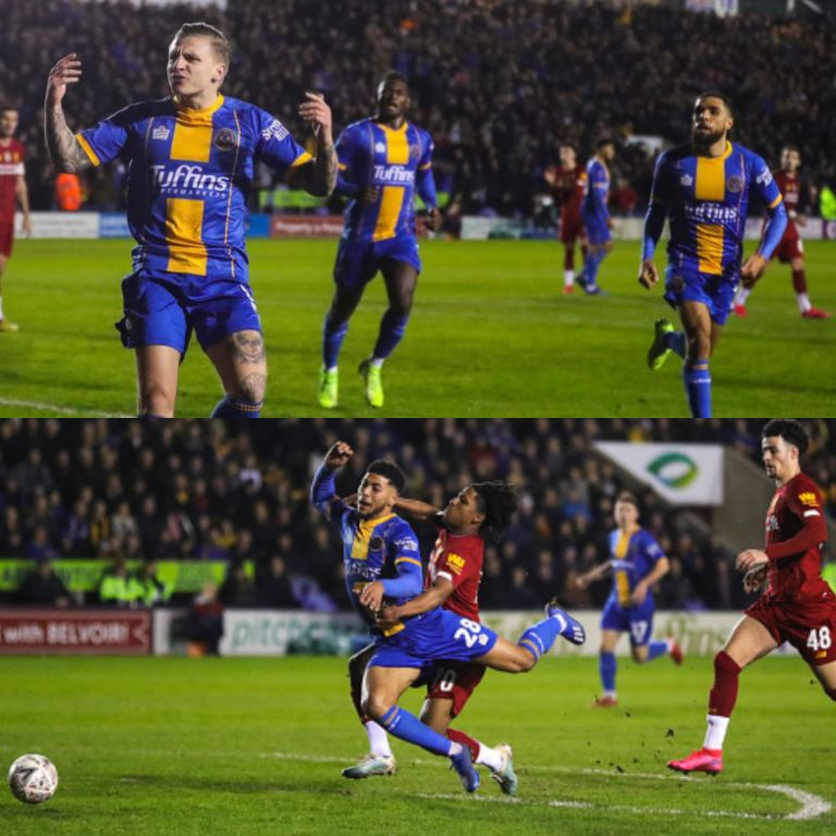 FA Cup: Udoh In Action As Shrewsbury Fightback To Force Replay vs Liverpool