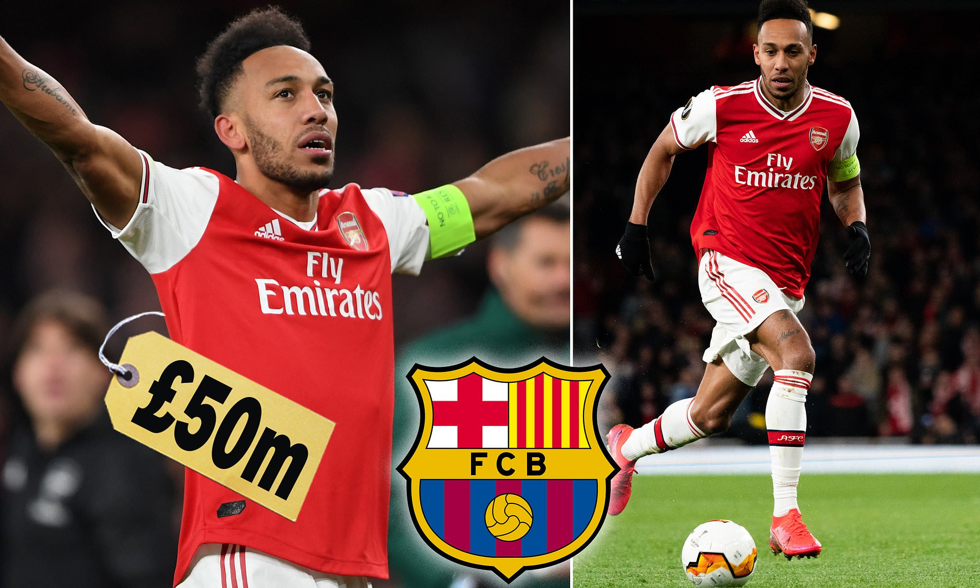 Arsenal Place £50m Price-Tag On Aubameyang Amid Barcelona Interest