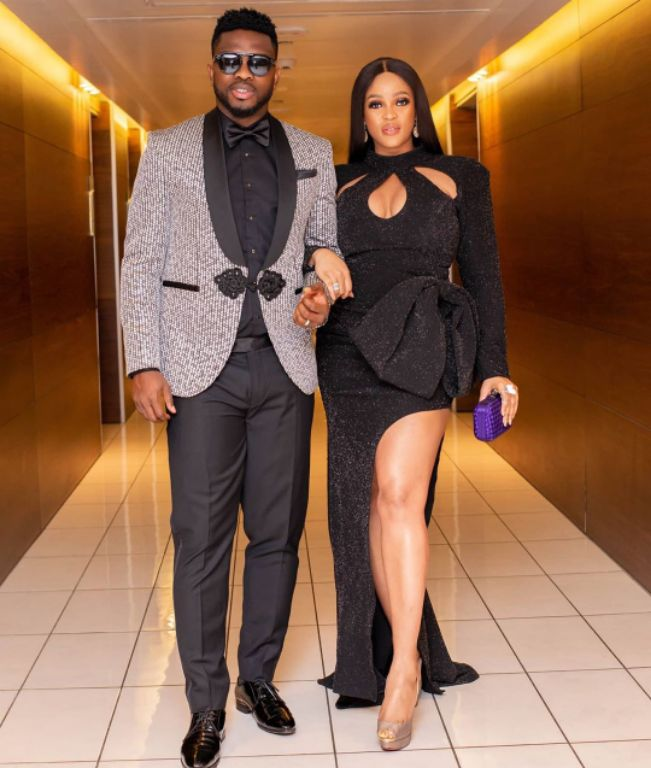Yobo, Wife Dazzle At AMVCA Ceremony In Lagos