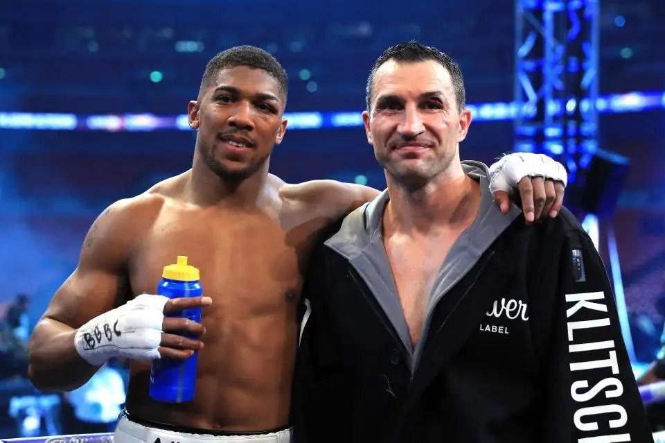 Joshua Names klitschko Hardest Puncher He's Ever Faced