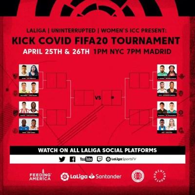 kick-covid-fifa20-tournament-laliga-north-america-nfl-nba-nwsl-wicc